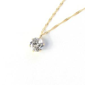 18金イエローゴールド 0.5ct ダイヤモンドペンダント/ネックレス - 拡大画像