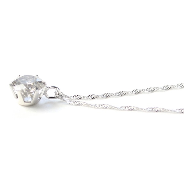 18金ホワイトゴールド 0.5ct ダイヤモンドペンダント/ネックレス