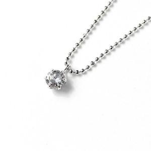 プラチナ 0.25ct ダイヤモンド ペンダント ネックレス  - 拡大画像