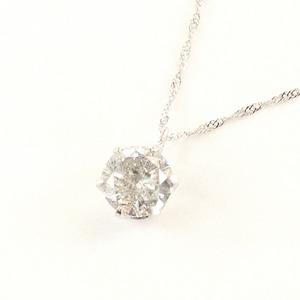プラチナ0.75ct ダイヤモンド 一粒石 ペンダント - 拡大画像