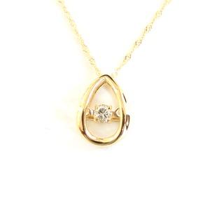 ダンシングストーン ネックレス k18 ダイヤモンド しずく ペンダント 揺れるダイヤ  - 拡大画像