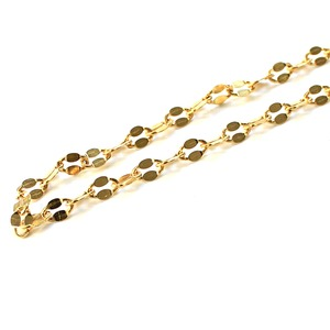 造幣局検定刻印入り 純金 k24 ペタル ネックレス チェーン  50cm - 拡大画像