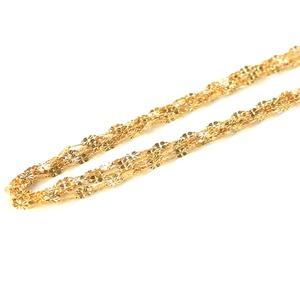 造幣局検定刻印入り 純金 k24 クローバー 5連 ネックレス チェーン  - 拡大画像