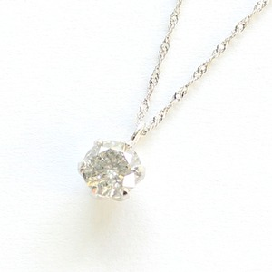 プラチナ0.45ct一粒石ダイヤモンドペンダント - 拡大画像