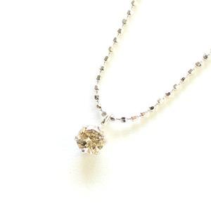 18金 ホワイトゴールド ダイヤモンド 0.15ct ネックレス - 拡大画像