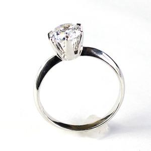 CZ スーパーキュービック シンプル デザインリング 17号 指輪 一粒
