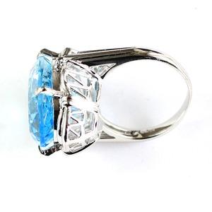 20ct ブルートパーズ ダイヤモンド リング20号 指輪 シルバー 誕生石