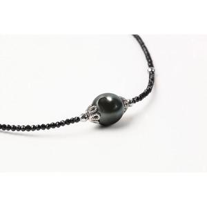11mm黒真珠ネックレス - 拡大画像