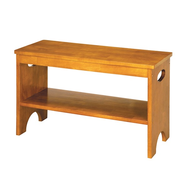 天然木玄関ベンチ(ブラウン/茶) 幅60cm 下駄箱/シューズラック付き補助椅子/チェア/木製/天然木/取っ手/収納棚付き/北欧風/ナチュラル/エントランス/NK-7407