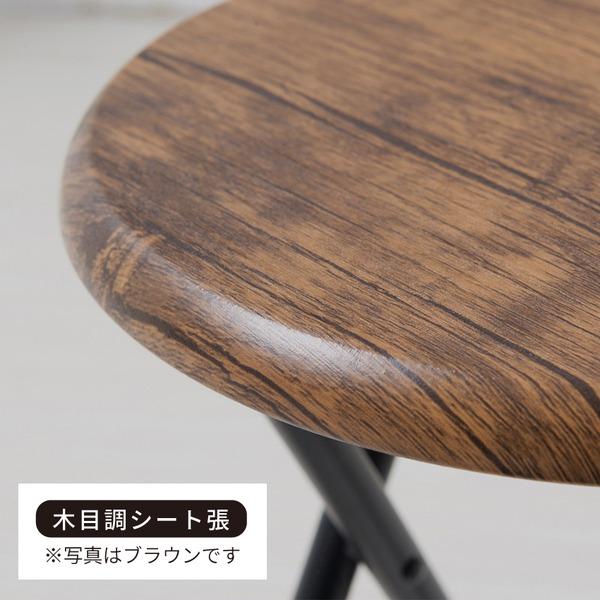 【6脚セット】ヴィンテージチェア(ナチュラル/白) 折りたたみ椅子/カウンターチェア/スチール/イス/背もたれ付/コンパクト/スリム/キッチン/パイプイス/モダン/レトロ/カフェ/木目/木/業務用/完成品/NK-111
