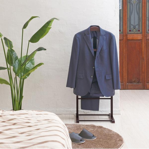 木製スーツラック(ブラウン/茶)