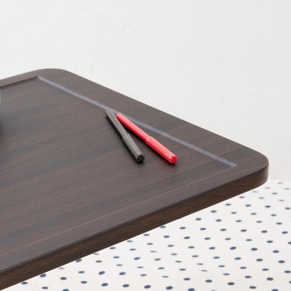 ガス圧昇降テーブル幅80cm高さ調節サイドテーブル/北欧風モダン