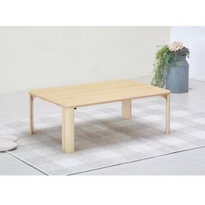【2個セット】軽量ホームテーブル 幅90cm(ナチュラル) 折りたたみローテーブル/机/木製/天然木/木目調/北欧風/シンプル/座卓/業務用/完成品/NK-190