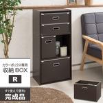 カラーボックス専用収納BOX-R(レギュラー)(ブラウン) ストレージボックス/インナーボックス/収納/引き出し/シンプル/完成品/NK-860