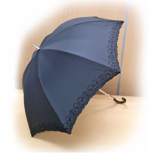 晴雨兼用 雨傘/日傘 【ブラック】 親骨長さ47cm UVカット率99%以上カット テイジン ナノフロント使用 遮熱パラソル - 拡大画像