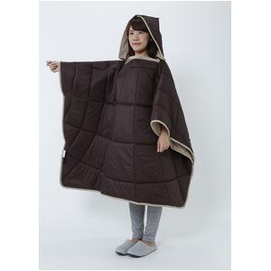 あったかすっぽりケット/防寒用品 【ブラウン】 折り畳み 軽量 保温 TEIJIN テイジン 〔屋内 寝室〕