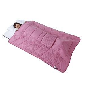 あったかすっぽりケット/防寒用品 【ローズ】 折り畳み 軽量 保温 TEIJIN テイジン 〔屋内 寝室〕