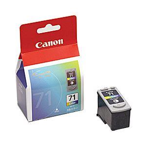 【純正品】 キヤノン(Canon) インクカートリッジ カラー 型番:BC-71 単位:1個