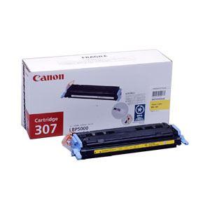 【純正品】 キヤノン(Canon) トナーカートリッジ 色:イエロー 型番:カートリッジ307(Y) 印字枚数:2000枚 単位:1個