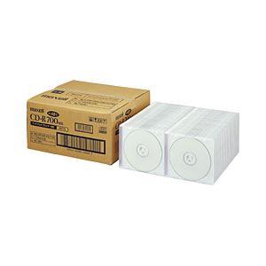 日立マクセル(HITACHI) CD-R 700MB 業務用 ホワイトレーベル 個別ケース 1箱(100枚)
