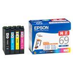 【純正品】 エプソン(EPSON)対応 インクカートリッジ 4色セット 1箱(4色セット) 型番:IC4CL69