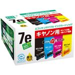 キヤノン(Canon)プリンター対応 エコリカ リサイクルインクカートリッジ 対応純正カートリッジ型番:BCI-7e/4MP 色:ブラック 単位:1個