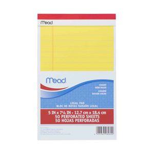 (業務用セット) Mead リーガルパッド ジュニアサイズ イエロー 1冊(50枚) 【×20セット】 - 拡大画像