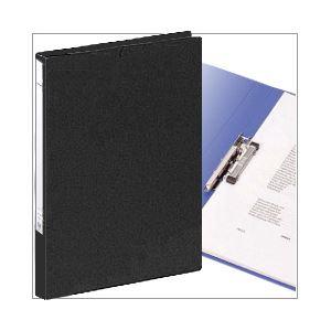 (業務用セット) パンチレスファイル(A4タテ) 背幅2.5cm ブラック 【×10セット】 - 拡大画像