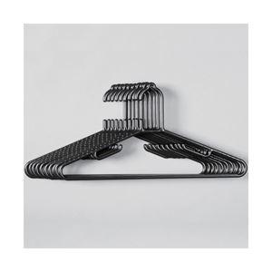 (業務用セット) BAUハンガー 黒 10P 【×10セット】