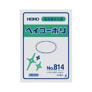 (まとめ) ポリエチレン袋 厚口 50枚入 No.814:縦41×横28cm 【×5セット】