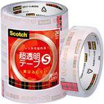 (業務用セット) スコッチ 超透明テープS パック売 (2.4cm×35m) BK-24N 1パック(5巻) 【×5セット】