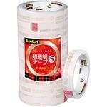 (業務用セット) スコッチ 超透明テープS パック売 (1.8cm×35m) BK-18N 1パック(10巻) 【×5セット】