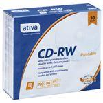 (業務用セット) ativa CD-RW 700MB ホワイトレーベル 個別ケース 10枚入 【×3セット】