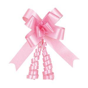 (まとめ) リボンボウ ピンク 1パック(50本) 型番:1410102 【×3セット】 - 拡大画像