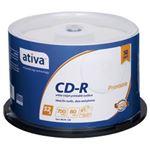 (業務用セット) ativa CD-R 700MB ホワイトレーベル スピンドルケース 50枚入 【×3セット】