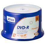(業務用セット) ativa データ用DVD-R 4.7GB ホワイトレーベル スピンドルケース 50枚入 【×2セット】