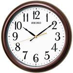 セイコークロック 電波掛け時計 ブラック KX234B 1台