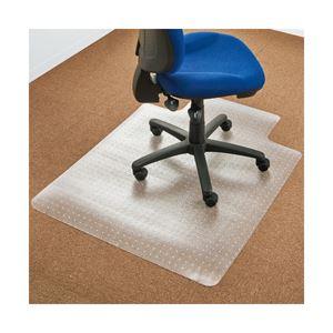 オフィスデポオリジナル チェアマット(カーペット用・凸型) クリアタイプ 1枚