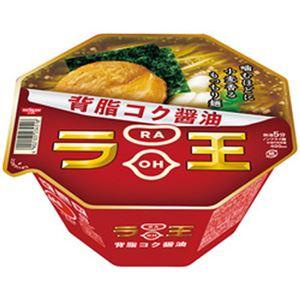 (まとめ)日清 ラ王 背脂コク醤油 1箱(115g×12個)【×2セット】