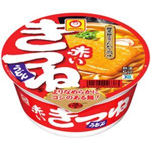 (まとめ)マルちゃん 赤いきつねうどん 関東風つゆ 1箱(96g×12個)【×2セット】 - 拡大画像