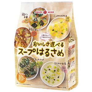 (まとめ)ひかり味噌 おいしさ選べるスープはるさめ 1袋(10食)【×10セット】