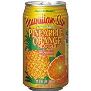 ハワイアンサン パイナップルオレンジネクター 340ml 1箱(24本) - 拡大画像