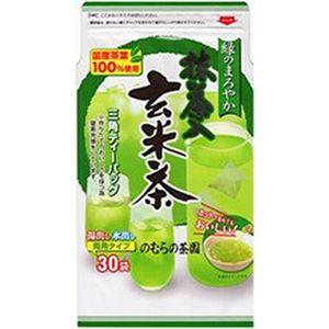 (まとめ)のむらの茶園 緑のまろやか抹茶入玄米茶 三角ティーパック【×20セット】 - 拡大画像