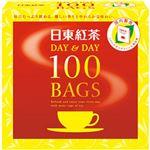 (まとめ)日東紅茶 デイ&デイ ティーバッグ    1箱(100袋)【×5セット】