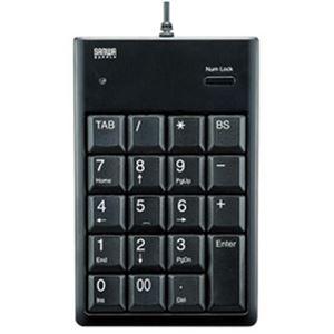 (まとめ)サンワサプライ USB2.0ハブ付テンキー    1台 型番:NT-16UH2BKN【×2セット】