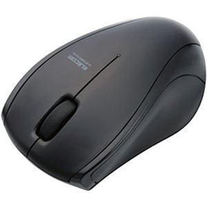 (まとめ)エレコム 静音Bluetoothマウス(IR LED3ボタン) ブラック M-BT15BRSBK 1個【×2セット】
