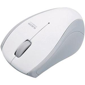 (まとめ)エレコム 静音Bluetoothマウス(IR LED3ボタン) ホワイト M-BT15BRSWH 1個【×2セット】