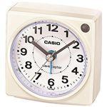 (まとめ)カシオ 電波置き時計(白) TQ-750J-7JF 1台【×3セット】