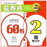 (まとめ)旭光電機 長寿命白熱電球 E26口金 2個入 60形【×10セット】