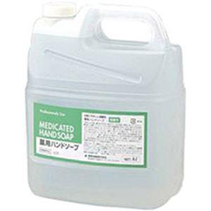 (まとめ)熊野油脂 弱酸性薬用ハンドソープ4L詰替ボトル  1本【×2セット】 - 拡大画像
